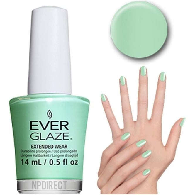 Everglaze Lacquer Extended Wear Nail Polish - Mint Ality (82320) 14mL