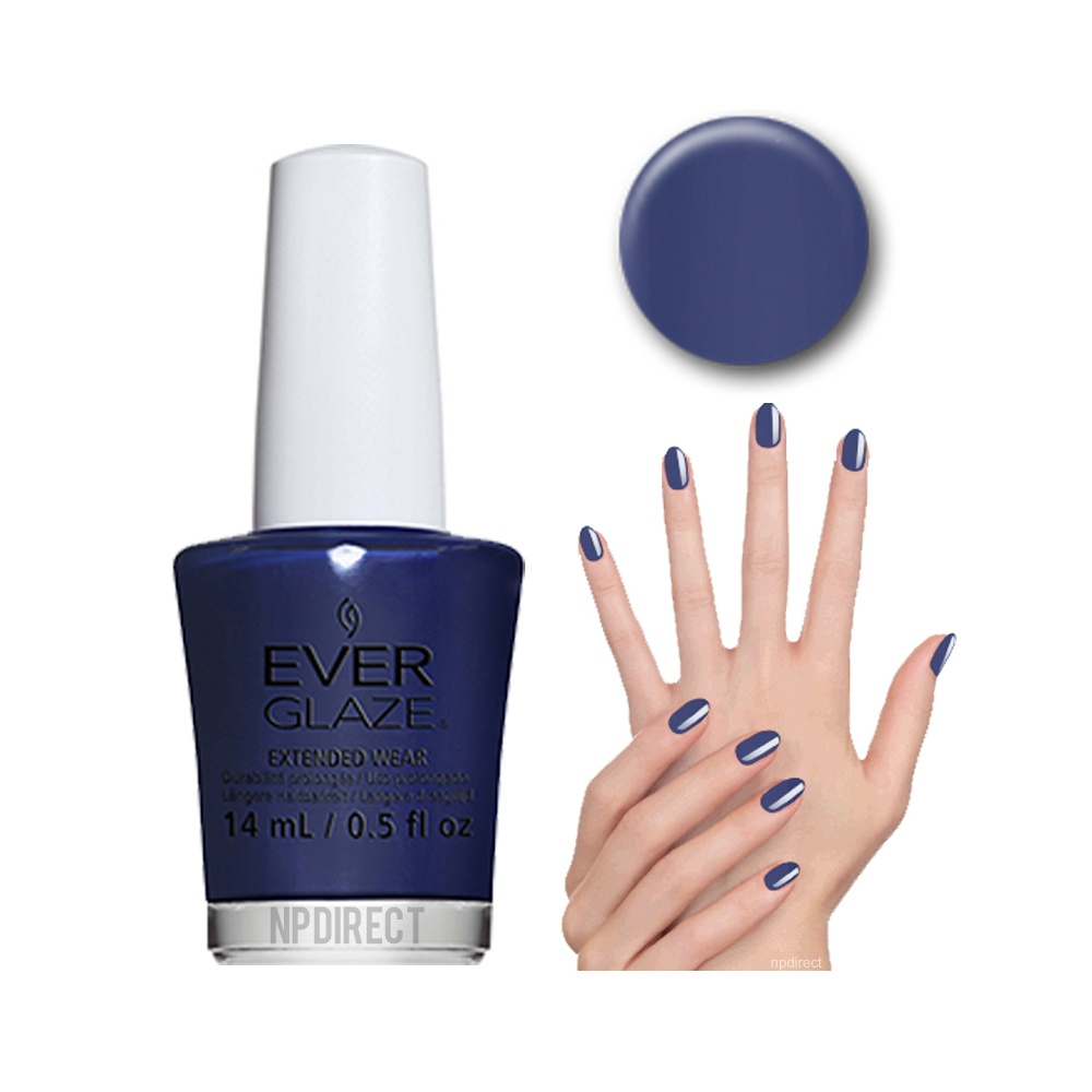 EverGlaze Nail Lacquer Navy Night available at Nail Polish Direct