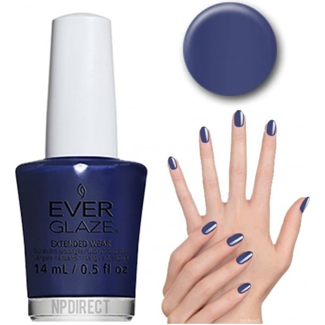 Everglaze Lacquer Extended Wear Nail Polish - Navy Night (82333) 14mL