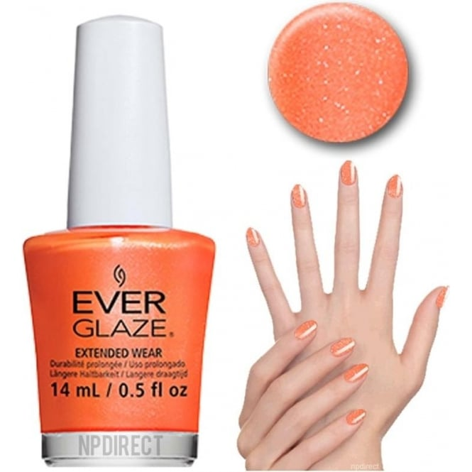 Everglaze Lacquer Extended Wear Nail Polish - Orange You Obsessed (82311) 14mL