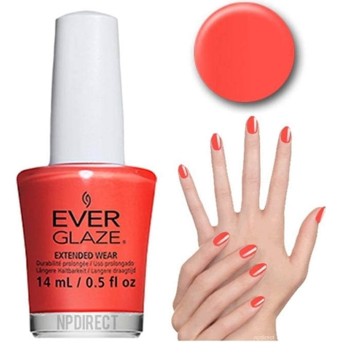 Everglaze Lacquer Extended Wear Nail Polish - Pretty Poppy (82312) 14mL