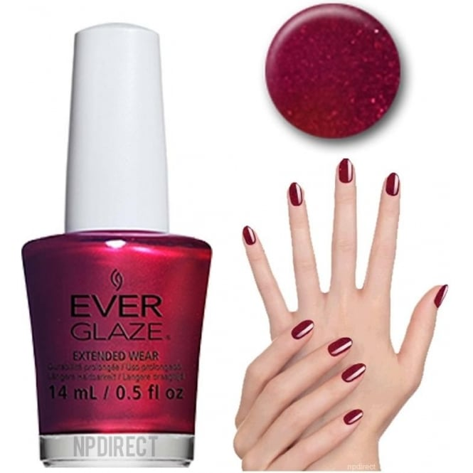 Everglaze Lacquer Extended Wear Nail Polish - Taken For Pomegranite (82344) 14mL