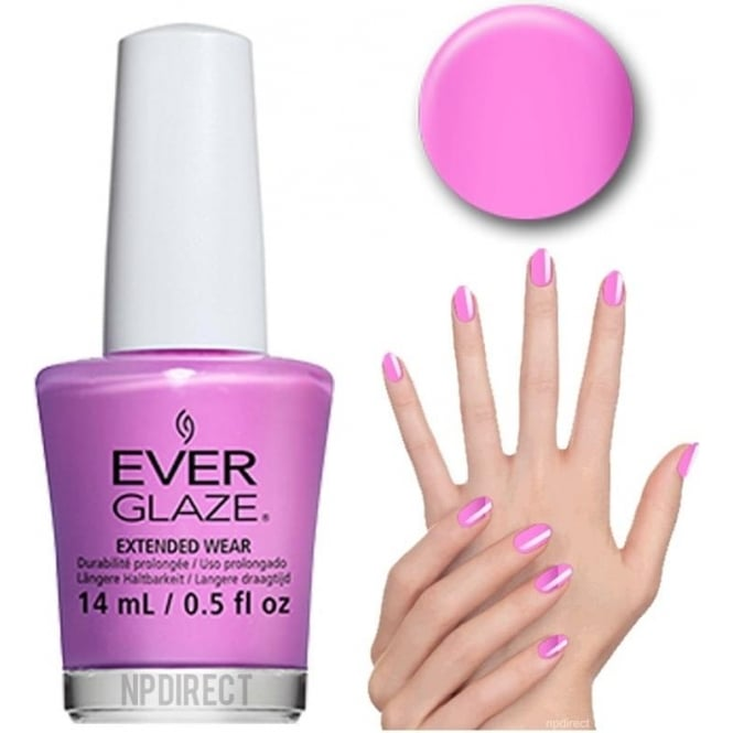 Everglaze Lacquer Extended Wear Nail Polish - Ultra Orchid (82304) 14mL