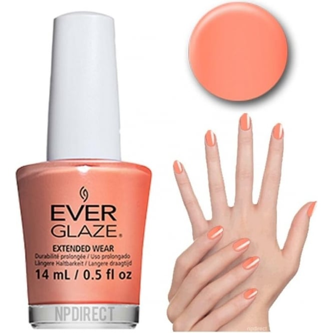 Everglaze Lacquer Extended Wear Nail Polish - What A Peach (82310) 14mL
