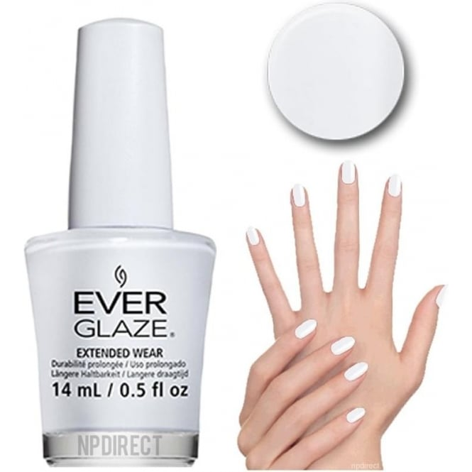 Everglaze Lacquer Extended Wear Nail Polish - White Noise (82328) 14mL