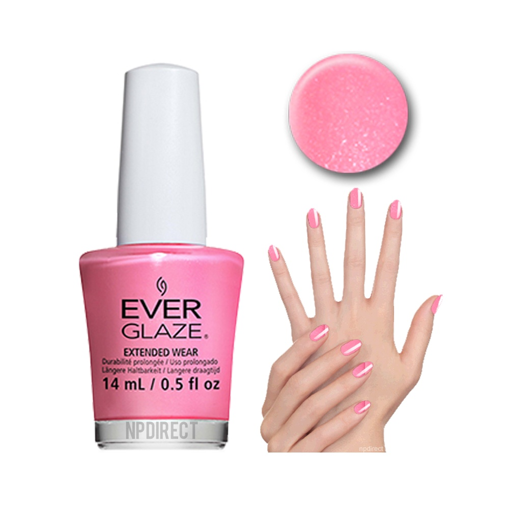 EverGlaze Nail Lacquer Paint My Piggies Pink at Nail Polish Direct