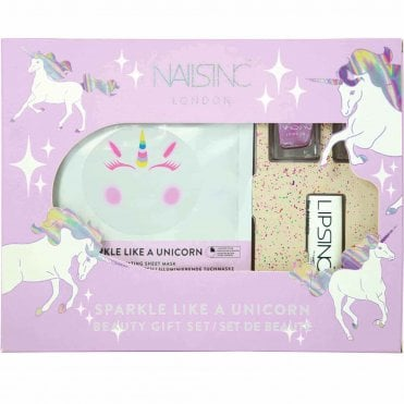 Face Mask & Lipstick Beauty Gift Set - Sparkle Like A Unicorn (2 X 4ml) (9902)