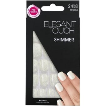 False Nails Jelly Collection - Shimmer White (24 Pack)