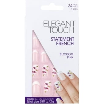 False Nails Statement French - Blossom Pink (24 Pack)