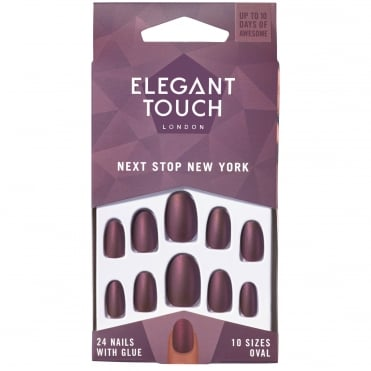 Flexible Nails - Polish Next Stop New York + Glue (24 Pack)