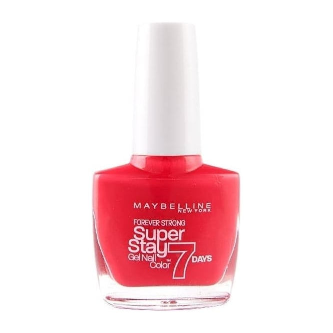 Maybelline Forever Strong Super Stay Gel Nail 7 Day Wear - Red Hot Getaway 10ml (872)