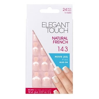 French Manicure Natural French 143 - 24 Nails With Glue In 10 Sizes
