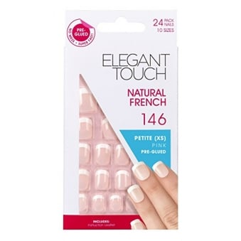 French Manicure Natural French 146 - 24 Nails In 10 Sizes (Pre-glued)