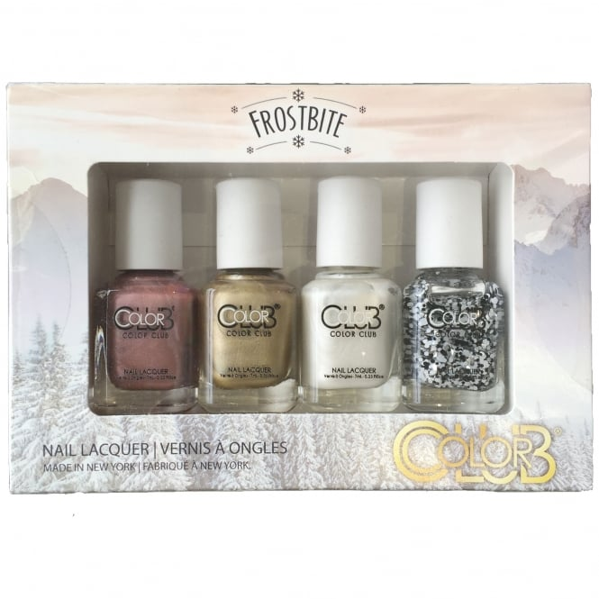 Color Club Frostbite Nail Polish Collection - 4-Piece Mini Set (4x 7mL)