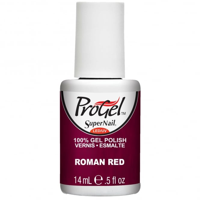 SuperNail ProGel Gel Nail Polish - Roman Red 14ml