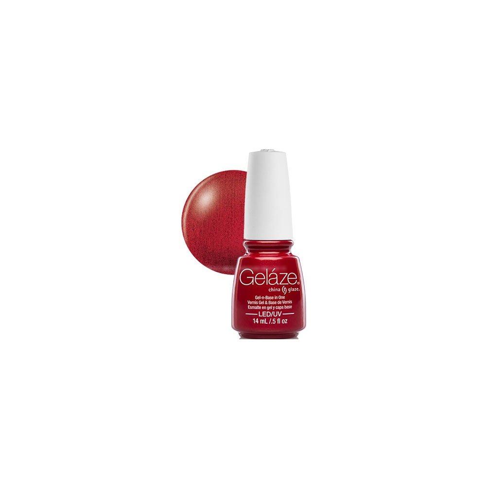 China Glaze Red Nail Polish: Gelaze China Glaze Gel Polish - Red Pearl 14ml