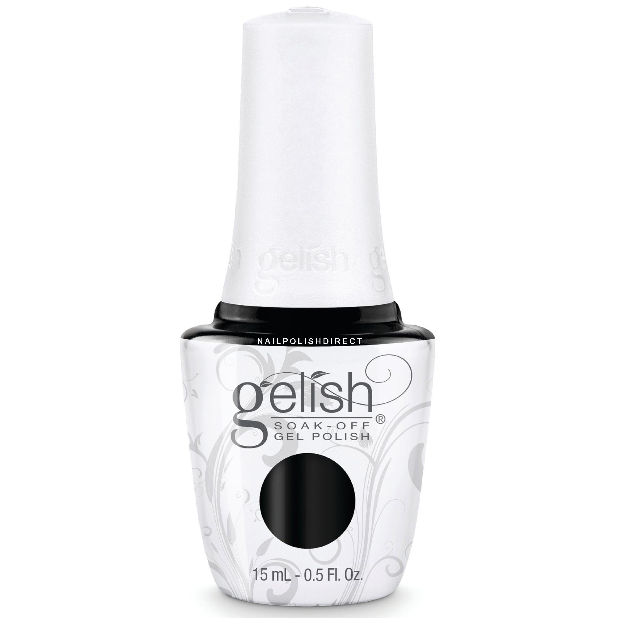 Black Gel Nail Polish: Gelish Soak-Off Gel Nail Polish