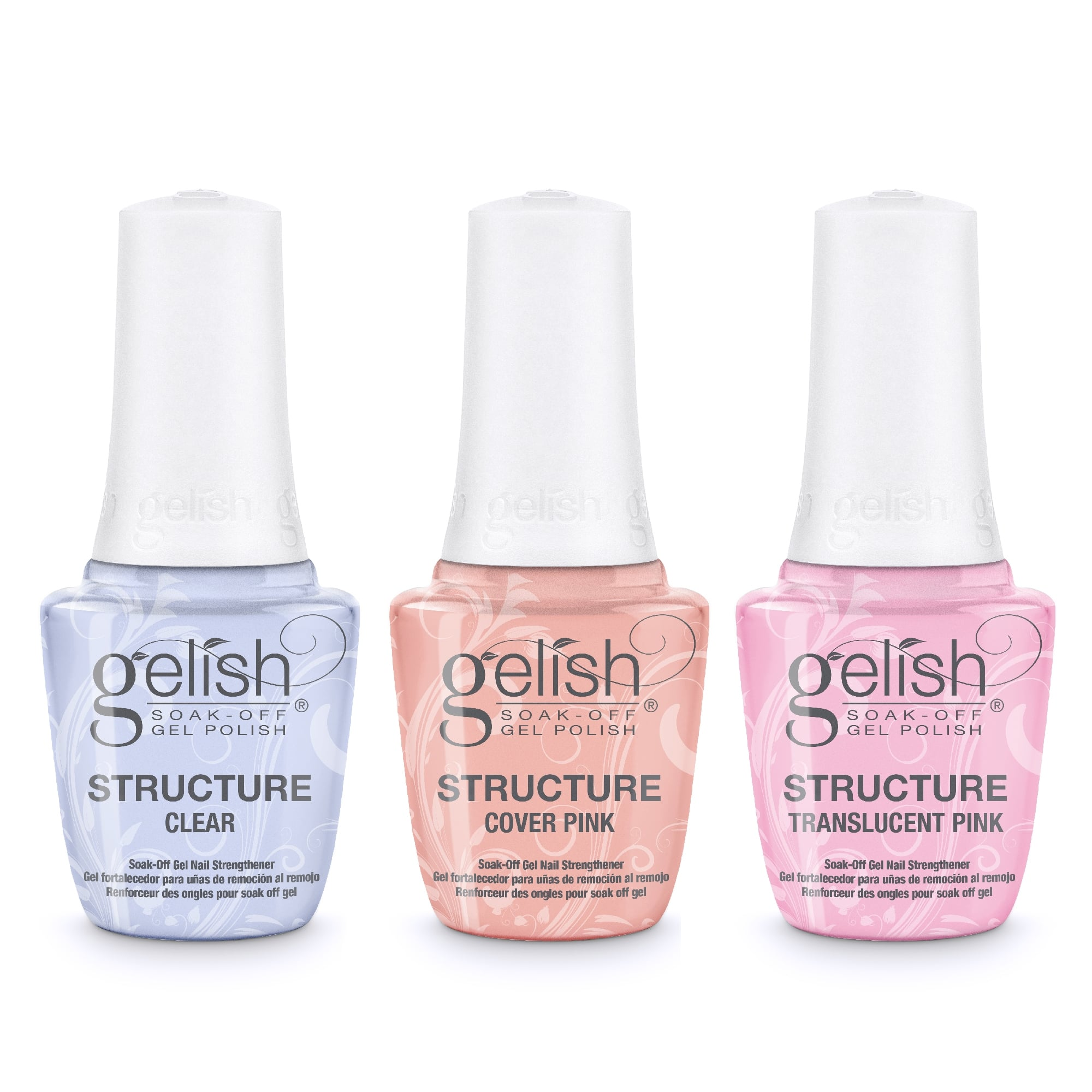 Gelish STRUCTURE Soak-Off Gel Nail Strengthener - Complete 3 Piece Set