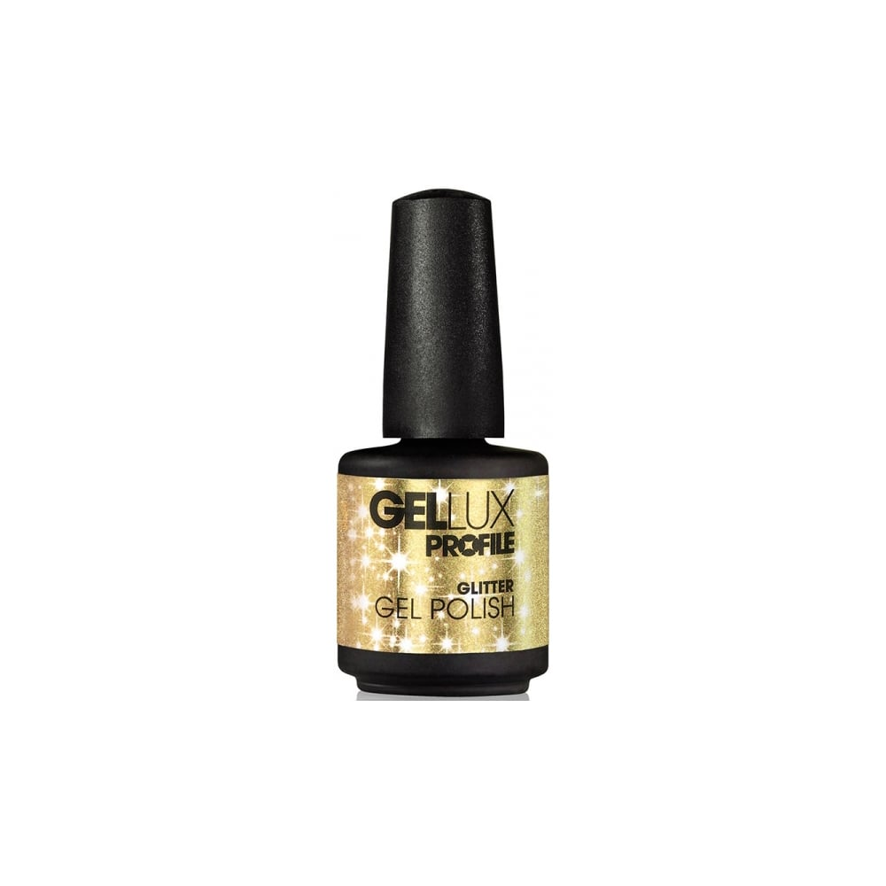 Gellux Profile Luxury Professional Gel Nail Polish - Gold Rush Glitter