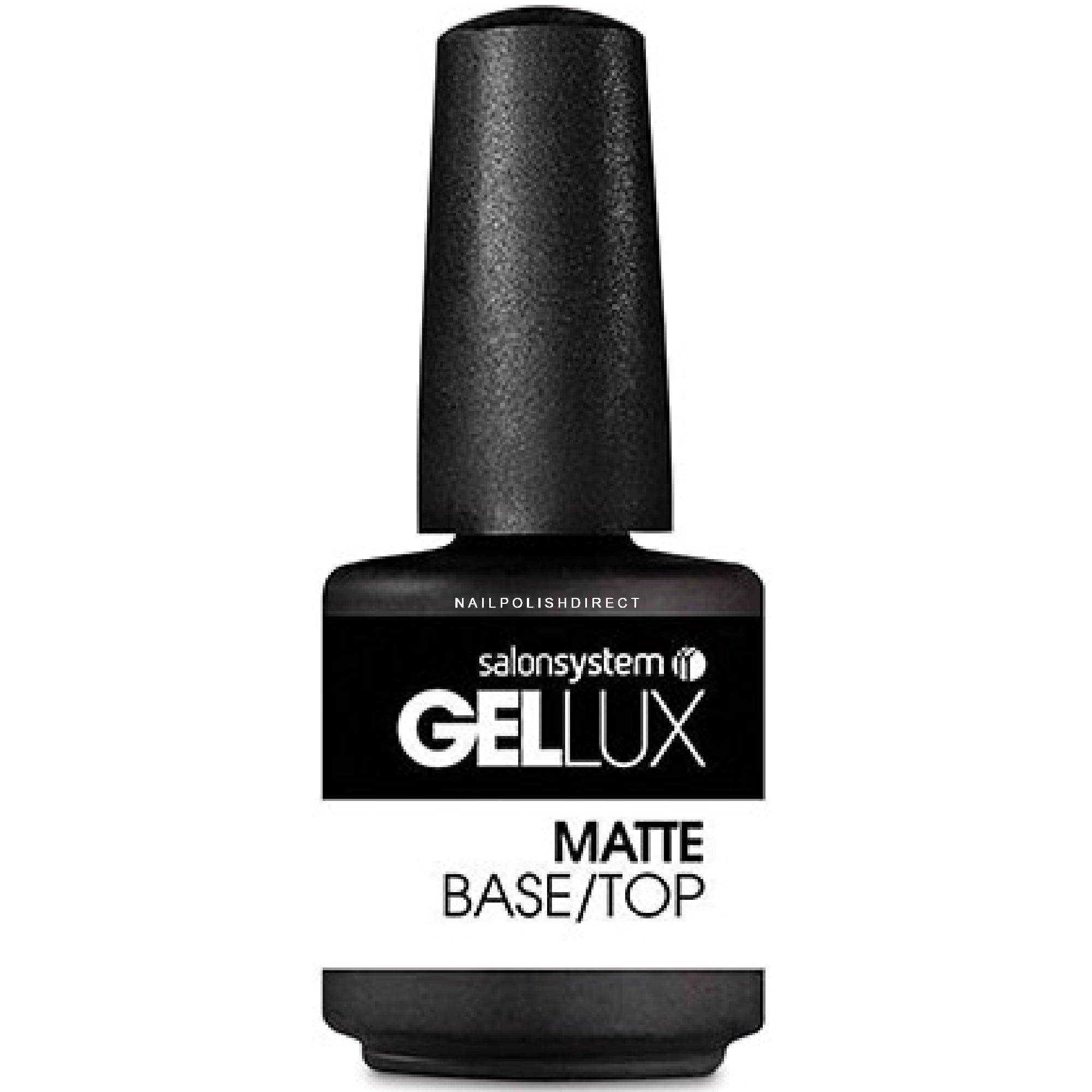 Gellux Professional Gel Nail Polish - Matte Base/Top (12982) 15ml