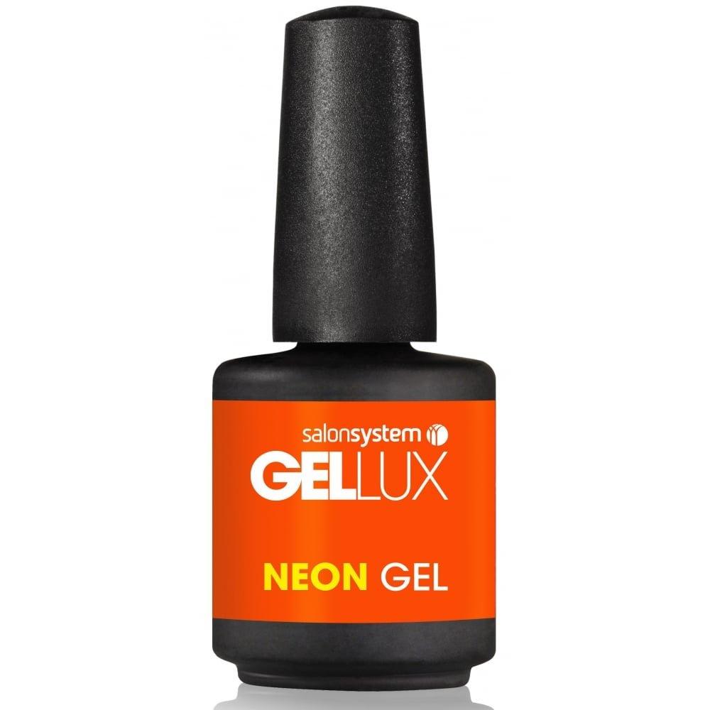 Gellux Profile Luxury Professional Gel Nail Polish - Orange Fever Neon