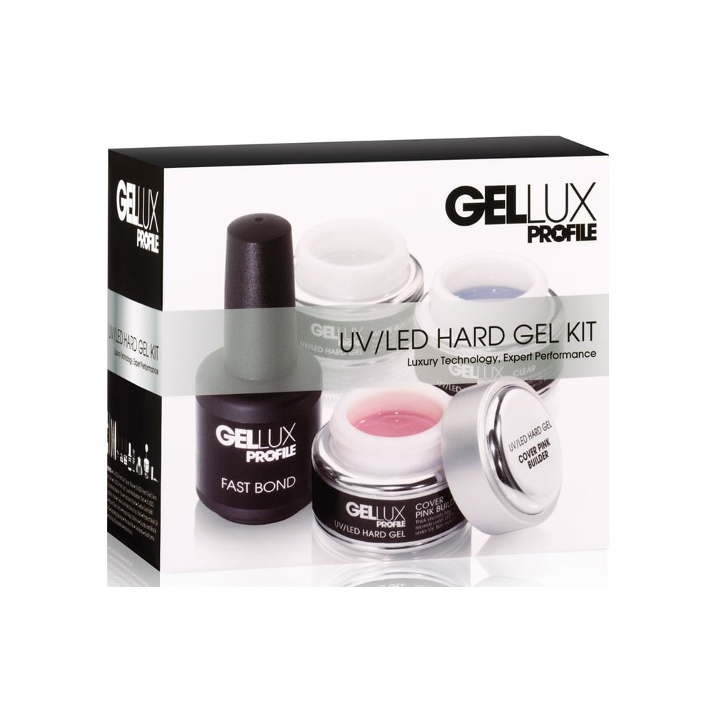 Gellux Luxury Professional Gel Nail Polish UV & LED Hard Gel Kit