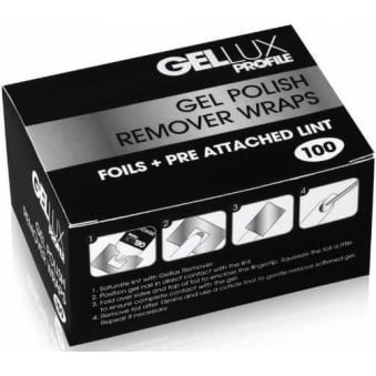 Profile Luxury Professional Gel Nail Treatments - Remover Wraps 100 Pieces (0212678)