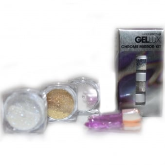 Profile Professional Chrome Mirror Kit - Chrome, Gold & Mermaid Mirror Powders (3 x 1g)