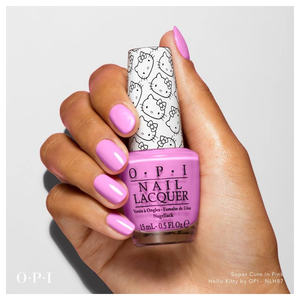 With Opi nail polish pink collection