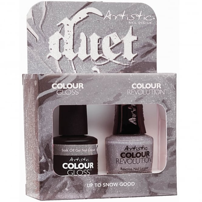Artistic Colour Gloss Holiday Hangover 2017 Nail Polish Collection - Up To Snow Good Duet (2100142)