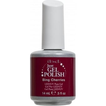 Pure LED & UV Just Gel Polish - Bing Cherries - 14 ml
