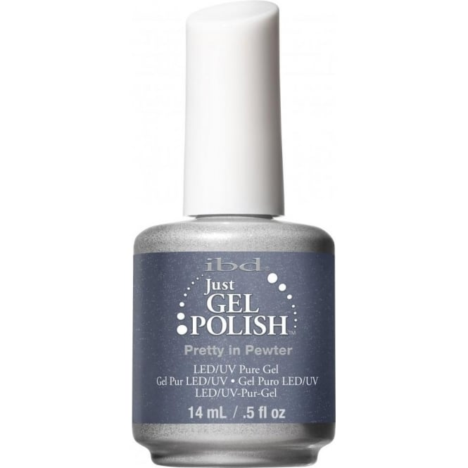 IBD Gel Professional Pure LED & UV Just Gel Polish - Pretty in Pewter 14ml