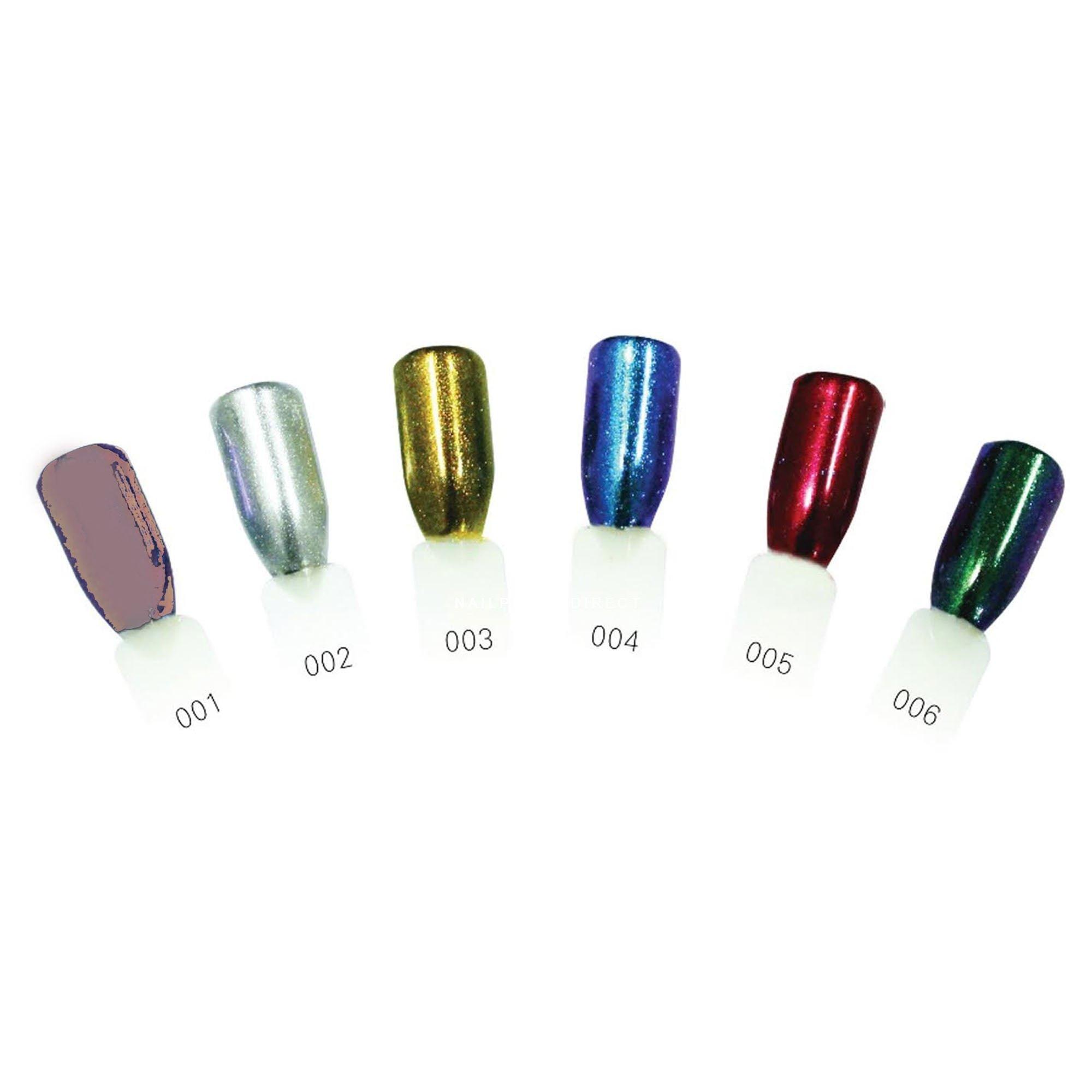 Icon Collection Chrome Effect Powder Colour 002 Silver (60028)