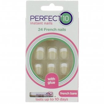 Instant Nails & Glue French Nails - French Bare (24 Nails)