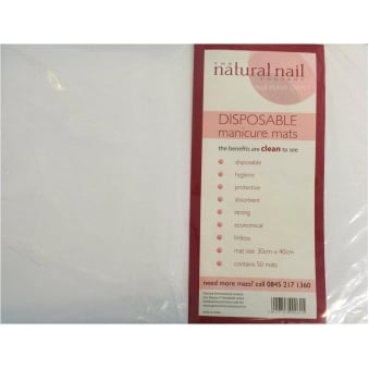 Disposable Protective Manicure Mats 30cm x 40cm (50 Pack)