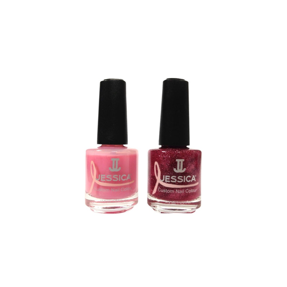 Jessica Christmas Nails: Jessica Fearlessly Pink Nail Polish Duo Set (x2 14.8mL