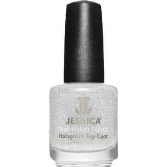 Nail Polish Topcoat - Hologram Sparkling Silver 14.8mL (601)