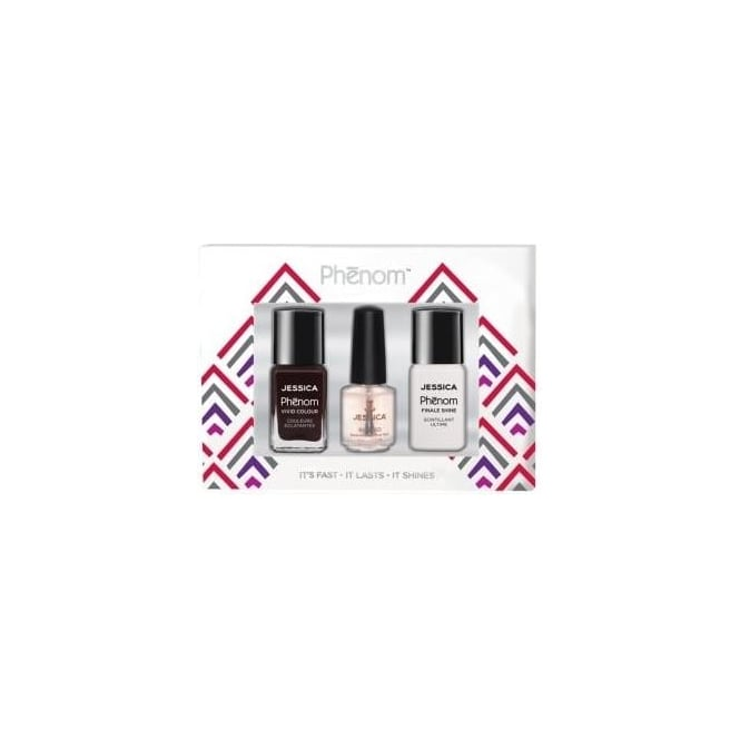 Jessica Phenom Vivid Colour Gift Sets - Penthouse & Finale Shine 15ml - Free Reward Basecoat 7.4ml