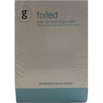 Safe Gel Remover Foils - Foiled (400 Aluminium Sheets)
