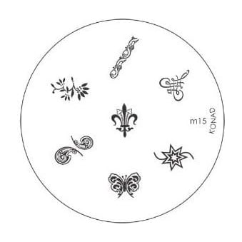 Stamping Nail Art -Image Plate Stencil M15