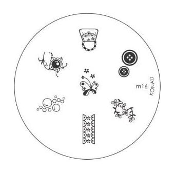 Stamping Nail Art -Image Plate Stencil M16