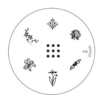 Stamping Nail Art -Image Plate Stencil M6