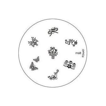 Stamping Nail Art -Image Plate Stencil M68
