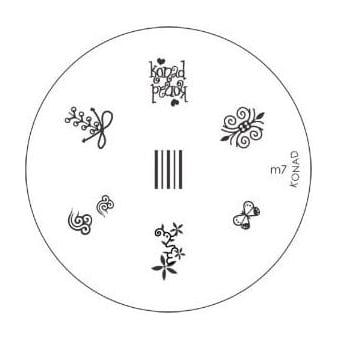 Stamping Nail Art -Image Plate Stencil M7