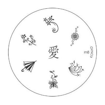 Stamping Nail Art -Image Plate Stencil M8