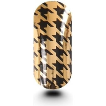 Pack Of Hounds Tooth Black & Gold