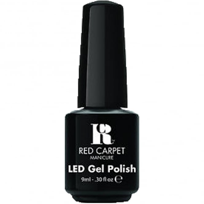 Red Carpet Manicure Gel LED Nail Polish - Black Stretch Limo 9ml
