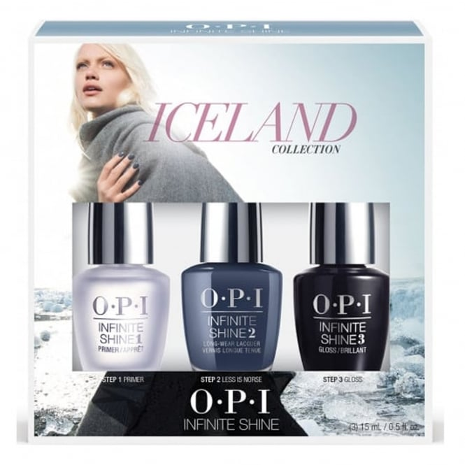 OPI Infinite Shine Less Is Norse Trio (3 x 15ml) - Iceland 2017 Nail Polish Collection