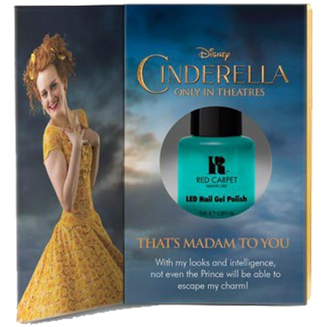Red Carpet Manicure Gel Limited Edition LED Nail Polish - Disney Cinderella Collection - Thats Madam To You 9ml