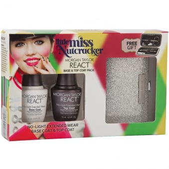 Little Miss Nutcracker 2017 Nail Polish Collection - REACT Base & Top Coat Pack (15ml x2)